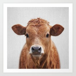 Cow 2 - Colorful Art Print