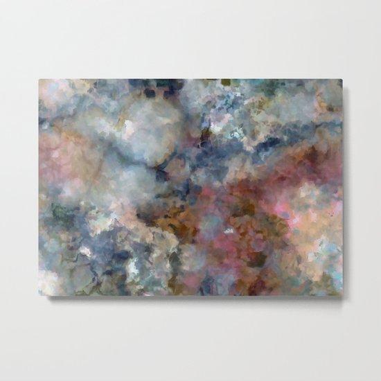 Colorful watercolor nebula onyx Metal Print