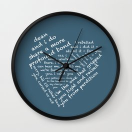 Quotes of the Heart - Destiel (White) Wall Clock