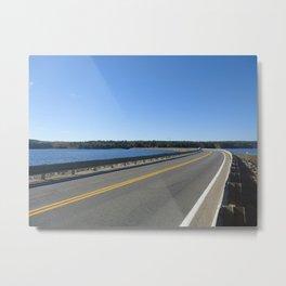 Scituate Reservoir, Rhode Island Ashland Causeway Photograph #6 by Jeanpaul Ferro Metal Print