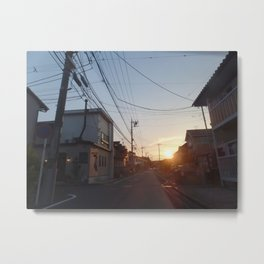 Yokohama Sunset Metal Print