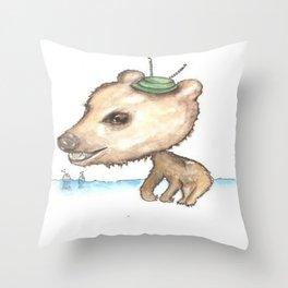 NORDIC ANIMAL - BOBO BEAR / ORIGINAL DANISH DESIGN bykazandholly  Throw Pillow