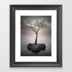 From the Withered Tree, a Flower Blooms (Tree of Solitude) Framed Art Print