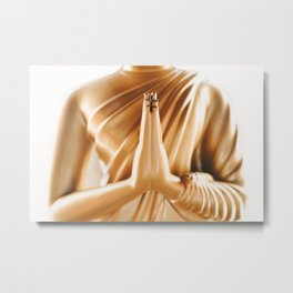 Buddha statue in Phuket's Wat Chalong temple Metal Print