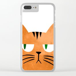 Orange cat with attitude Clear iPhone Case