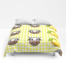 Milk Milk Lemonade Emoji Comforters