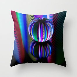 Floating crystal ball Throw Pillow