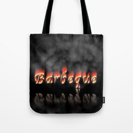 Barbeque Text On Fire Tote Bag