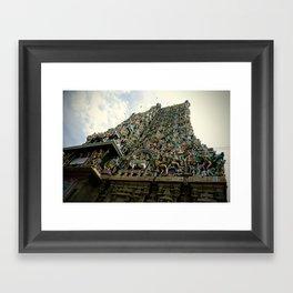Hindi Temple Madurai Framed Art Print
