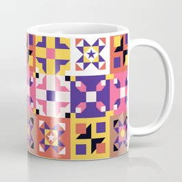 Maroccan tiles pattern with pink and purple no3 Coffee Mug
