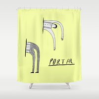 portal Shower Curtains featuring Portal by Nick Alston
