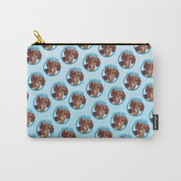 Wiener Dog Print Carry-All Pouch