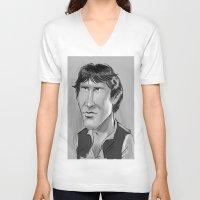han solo V-neck T-shirts featuring Han Solo  by Garabatostudios