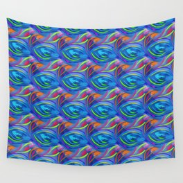 Colorful  blue scales Wall Tapestry