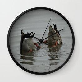 Duck Bums Wall Clock