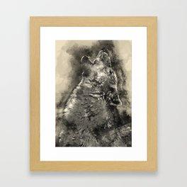 Art wolf Framed Art Print