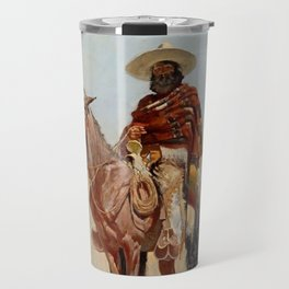 """Mexican Vaquero Horseman"" by Frederick Remington Travel Mug"
