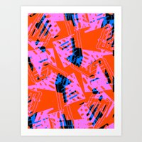 orange pattern Art Prints featuring Orange Pattern by Sarah Bagshaw