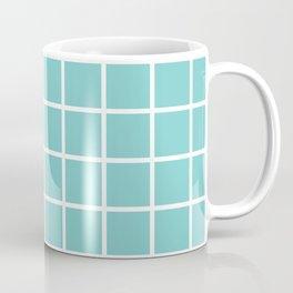 Aqua Grid Pattern 2 Coffee Mug