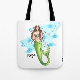 Virgo Mermaid Tote Bag