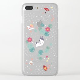 Red Lotus Pavilion Clear iPhone Case