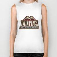twin peaks Biker Tanks featuring Twin Peaks by Allelujah