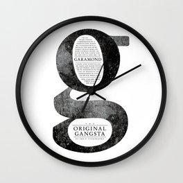 O.G. Garamond Wall Clock