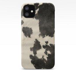 Black & White Cow Hide iPhone Case