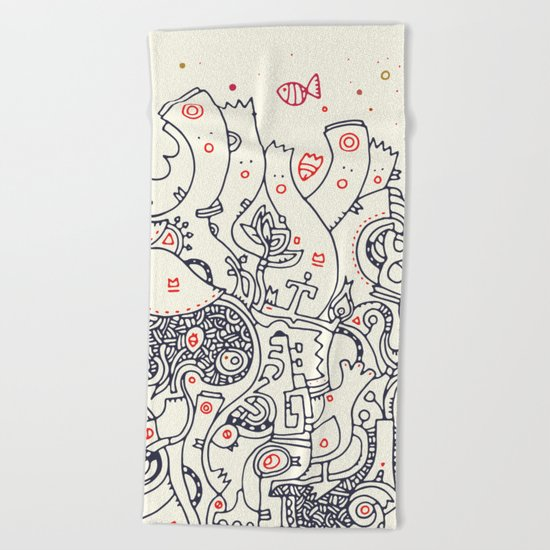 Deep in the Ocean Beach Towel