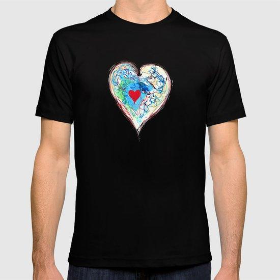 scribble heart T-shirt