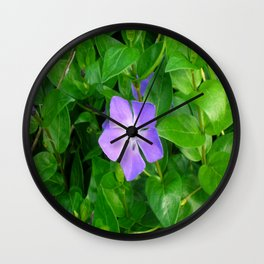 Violet Herbaceous Periwinkle Wall Clock