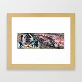 the path of meditation Framed Art Print