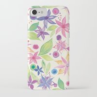 leah flores iPhone & iPod Cases featuring Flores by JuanaViEs