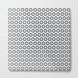 Ornaments Black - Gray Metal Print