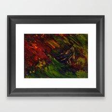 Red storm Framed Art Print