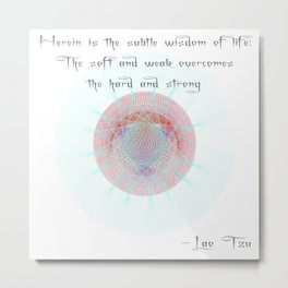 Orbital Mandala #4 Astronomy Print Wall Art Science Art Lao Tzu Metal Print