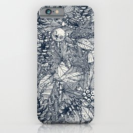 forest floor indigo ivory iPhone Case