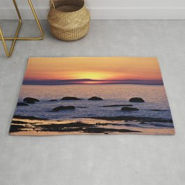 Summer's Glow and the Circle of Rocks Rug