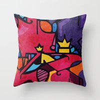 crown Throw Pillows featuring Crown by Arcturus