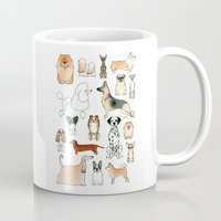 dogs Mugs featuring Dogs by Rebecca Bennett