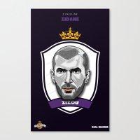 zidane Canvas Prints featuring Zidane by Rudi Gundersen