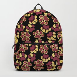 Magenta Cute Paws Backpack