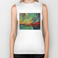 aurora Biker Tanks featuring Aurora by Michael Creese