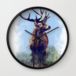 Red Deer - Painting Wall Clock