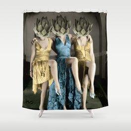 Artichoke pin ups Shower Curtain