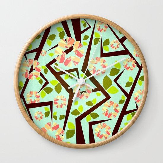 Blooming Trees Pattern III Wall Clock