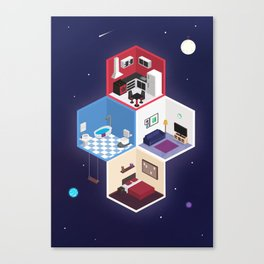 Isometric space home Canvas Print