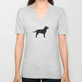 Black Labrador Retriever Silhouette Unisex V-Neck
