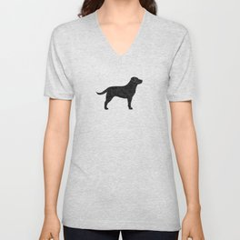 Black Labrador Retriever Silhouette Unisex V-Neck