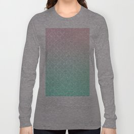 Moroccan pattern with mint, pink and gold Long Sleeve T-shirt